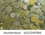 Small photo of Ten baht, five baht, and one baht coin background