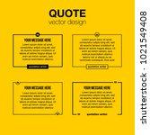 innovative set vector quotation ... | Shutterstock .eps vector #1021549408