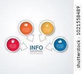 vector infographic template for ... | Shutterstock .eps vector #1021558489