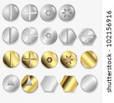 bolts and screws  isolated on...   Shutterstock .eps vector #102156916