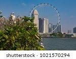 marina bay singapore asia...   Shutterstock . vector #1021570294