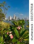 marina bay singapore asia...   Shutterstock . vector #1021570318