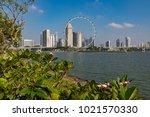 marina bay singapore asia...   Shutterstock . vector #1021570330