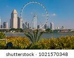 marina bay singapore asia...   Shutterstock . vector #1021570348