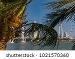 marina bay singapore asia...   Shutterstock . vector #1021570360