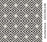 geometric ornament with striped ... | Shutterstock .eps vector #1021581148