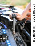 test a ignition coil when... | Shutterstock . vector #1021581334