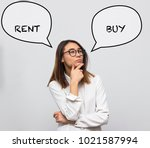 young pretty asian woman... | Shutterstock . vector #1021587994