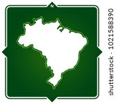 simple outline map of brasil...   Shutterstock .eps vector #1021588390