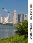 marina bay singapore asia...   Shutterstock . vector #1021591108