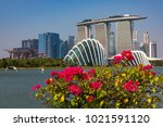 marina bay singapore asia...   Shutterstock . vector #1021591120