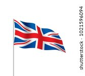 flag of the united kingdom ... | Shutterstock .eps vector #1021596094