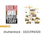 vector toy construction... | Shutterstock .eps vector #1021596520