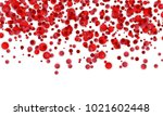 background of red confetti on... | Shutterstock .eps vector #1021602448