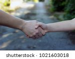 close up view of mother and... | Shutterstock . vector #1021603018