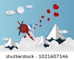 paper art vector illustration... | Shutterstock .eps vector #1021607146