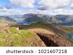 Small photo of Views of Lake Buttermere and Crummock Water on route to the summit of Red Pike with Wandope, Whiteless Pike, Grasmoor and Robinson in the distance. The English Lake District, UK.