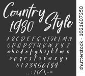 vector set of handwritten abc ... | Shutterstock .eps vector #1021607350