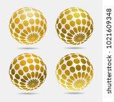 gold decorative balls. | Shutterstock .eps vector #1021609348