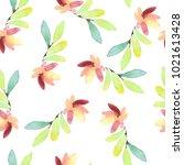 seamless watercolor pattern... | Shutterstock . vector #1021613428