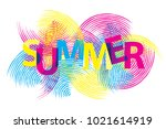 a bright summer idea for the... | Shutterstock .eps vector #1021614919