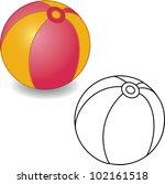 coloring book. toy ball vector... | Shutterstock .eps vector #102161518