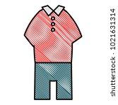 elegant masculine costume icon   Shutterstock .eps vector #1021631314