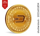 dash. crypto currency. 3d... | Shutterstock .eps vector #1021631854