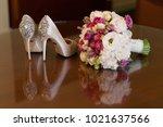 wedding bouquet of flowers | Shutterstock . vector #1021637566