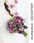wedding bouquet of flowers | Shutterstock . vector #1021637569