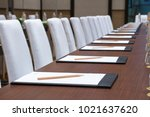paper  set up a seminar in the... | Shutterstock . vector #1021637620