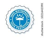 waterproof label illustration   Shutterstock .eps vector #1021642390