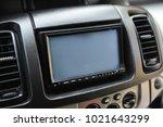 interior of modern white car.... | Shutterstock . vector #1021643299