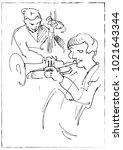 jazz musicians playing music....   Shutterstock .eps vector #1021643344