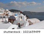 greece santorini trevel | Shutterstock . vector #1021659499