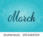hand drawn typography lettering ... | Shutterstock .eps vector #1021664224