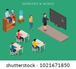 school education isometric... | Shutterstock .eps vector #1021671850