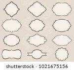 set of various types of labels | Shutterstock .eps vector #1021675156