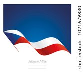 czechia abstract wave flag... | Shutterstock .eps vector #1021679830