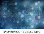 3d rendering red streaming... | Shutterstock . vector #1021684393