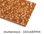the back of a chocolate bar on... | Shutterstock . vector #1021685944