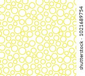 pattern circle yellow | Shutterstock .eps vector #1021689754