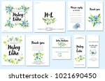 card templates set with... | Shutterstock . vector #1021690450