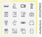home appliances line icon set...   Shutterstock .eps vector #1021695820
