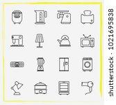 home appliances line icon set...   Shutterstock .eps vector #1021695838