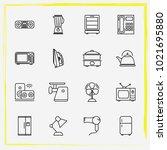 home appliances line icon set...   Shutterstock .eps vector #1021695880