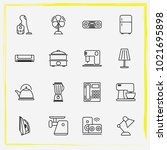 home appliances line icon set...   Shutterstock .eps vector #1021695898