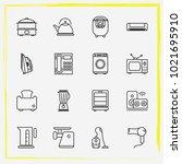 home appliances line icon set...   Shutterstock .eps vector #1021695910