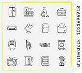 home appliances line icon set... | Shutterstock .eps vector #1021696918