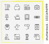 home appliances line icon set... | Shutterstock .eps vector #1021696999